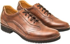 Designer Shoes, Tan Italian Handmade Leather Lace-up Shoes