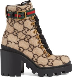 GG wool ankle boot