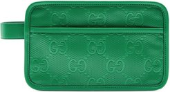 GG embossed cosmetic case