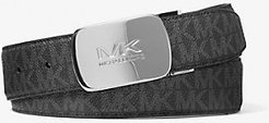 Reversible Logo and Leather Belt