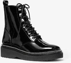 Haskell Patent Leather Combat Boot