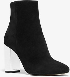 Petra Embellished Suede Ankle Boot