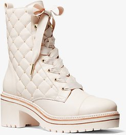 Tilda Quilted Leather Combat Boot