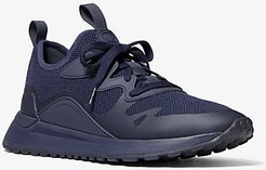 Nolan Mesh and Rubberized Leather Trainer