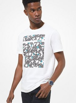 Scattered Graphic Logo Cotton T-Shirt