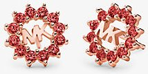 14K Rose-Gold Plated Sterling Silver Logo Studs