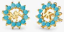 14K Gold-Plated Sterling Silver Logo Studs