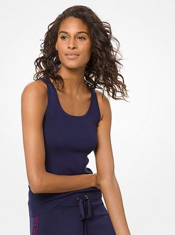 Ribbed Stretch-Viscose Tank Top