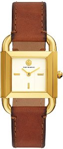 Phipps Watch, Luggage Leather/Gold-Tone, 24 X 24 Mm