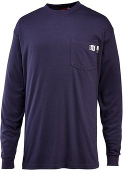 FR Long Sleeve Tee Navy, Size S