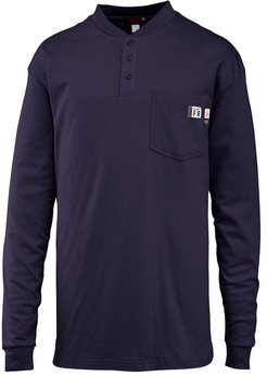 FR Long Sleeve Henley Navy, Size S