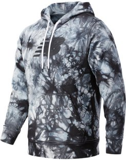 03584 Men's NB Basketball Blacktop Tie Dye Hoodie - Black/Grey (MT03584BKM)