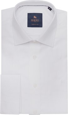 1866 White Formal Dress Collar Double Cuff Tailored Fit Shirt