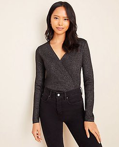 Shimmer Wrap Sweater