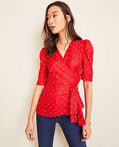 Dot Wrap Top