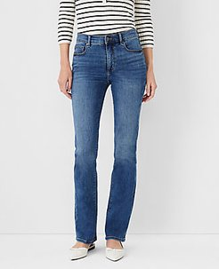 Sculpting Pocket Slim Boot Cut Jeans in Mid Stone Wash