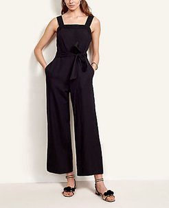 Stitched Belted Jumpsuit