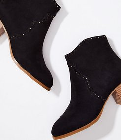 Studded Block Heel Ankle Boots