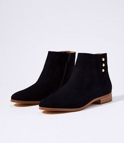 Side Button Ankle Boots