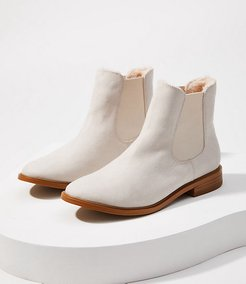 Faux Fur Lined Chelsea Ankle Boots