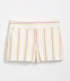 Petite Striped Rivera Shorts with 3 1/2 Inch Inseam