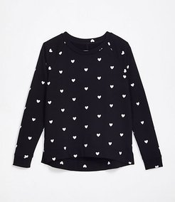 Lou & Grey Heart Terry Sweatshirt