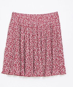 Tall Floral Pleated Skirt
