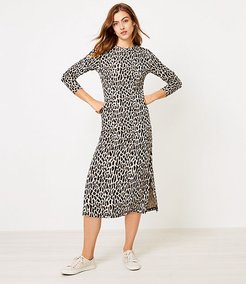 Animal Spotted Midi Dress
