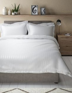 Marks & Spencer Pure Cotton Double Cuff Bedding Set - White - Single (3 ft)