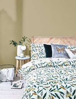 Pure Cotton Butterfly Bedding Set - Green - Single (3 ft)