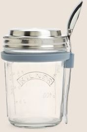 Marks & Spencer Breakfast Jar with Spoon - No Colour - One Size