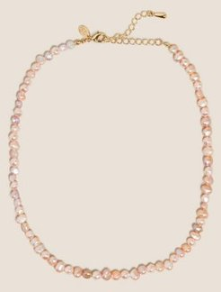 Marks & Spencer Short Mini Freshwater Pearl Necklace - Pink - One Size
