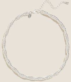 Marks & Spencer Chunky Twist Chain Necklace - Silver - One Size