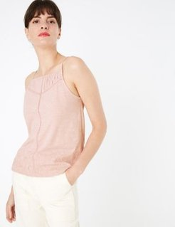 Marks & Spencer Pure Cotton Sleeveless Camisole Top - Dusted Pink - US 6 (UK 10)