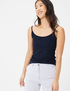 Marks & Spencer Cotton Fitted Cami Top - Navy - US 2 (UK 6)