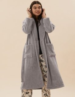 Marks & Spencer Cotton Dressing Gown - Grey - Small