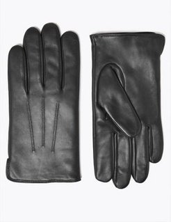 Marks & Spencer Leather Gloves with Thermowarmth™ - Black - US S