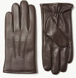 Marks & Spencer Leather Gloves with Thermowarmth™ - Brown - US S