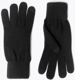 Marks & Spencer Knitted Gloves with Thermowarmth™ - Black - One Size
