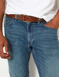 Marks & Spencer Leather Stitch Detail Belt - Tan - 42in-44in waist