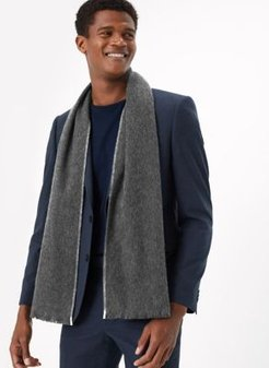Marks & Spencer Merino Wool Scarf - Charcoal - One Size