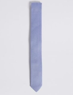 Marks & Spencer Skinny Knitted Tie - Pale Blue - One Size