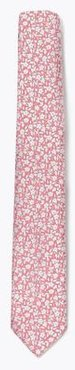 Marks & Spencer Skinny Woven Floral Tie - Pink Mix - One Size