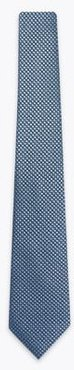 Marks & Spencer Polka Dot Pure Silk Tie - Blue Mix - One Size