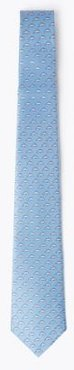 Marks & Spencer Dolphin Print Pure Silk Tie - Light Blue Mix - One Size