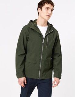 Marks & Spencer Hooded Parka with Stormwear™ - Khaki - US S