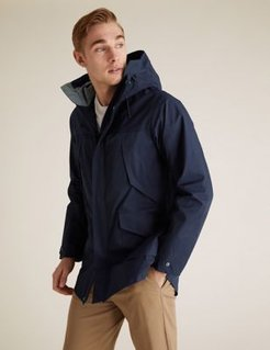 Marks & Spencer Cotton Technical Mac with Stormwear™ - Navy - US S