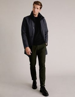 Marks & Spencer Padded Funnel Neck Mac with Stormwear™ - Grey Mix - US M