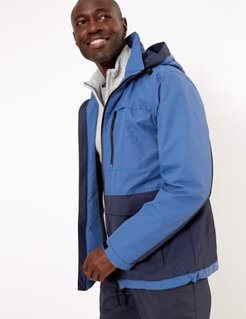 Marks & Spencer Colour Block Jacket with Stormwear™ - Blue Mix - US S