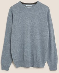 Marks & Spencer Pure Cashmere Crew Neck Jumper - Mid Grey - US S